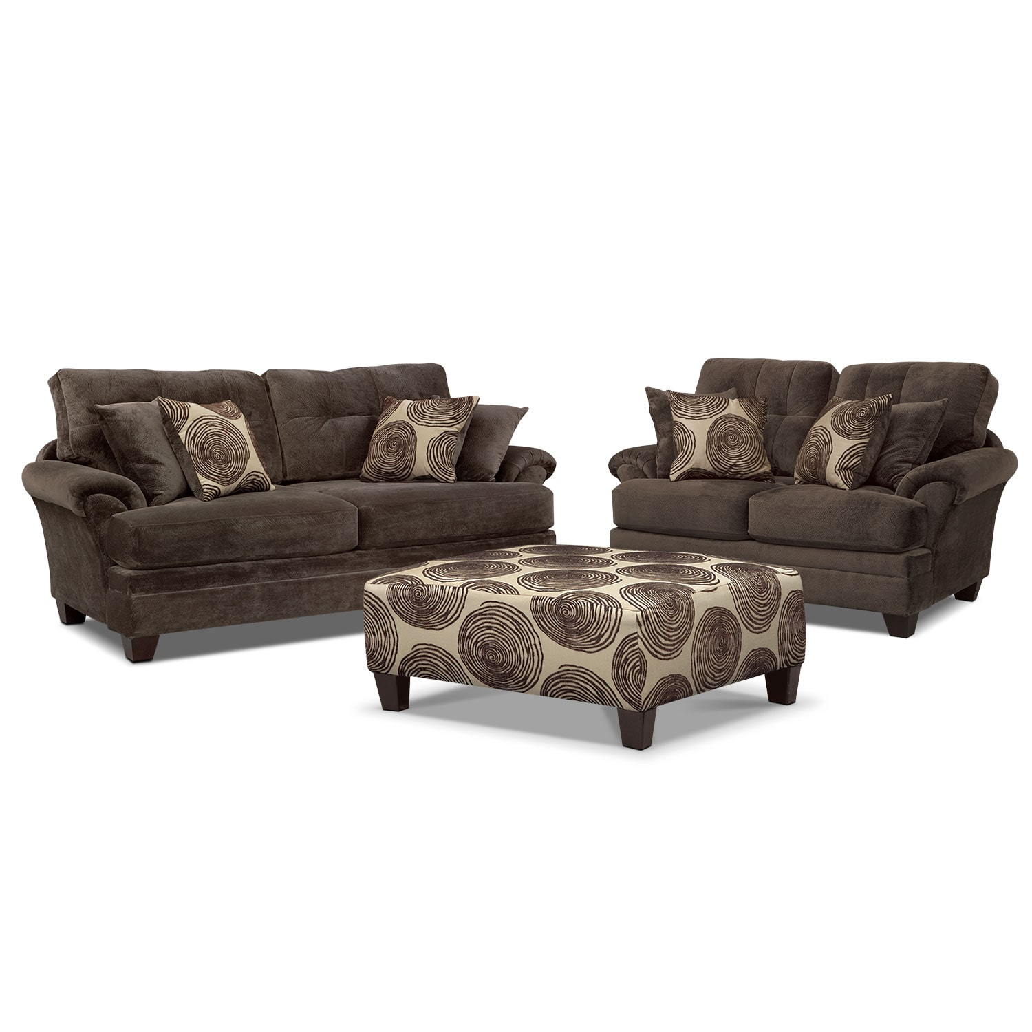 living room sofa and loveseat sets interior designs for cordelle cocktail ottoman set value city furniture