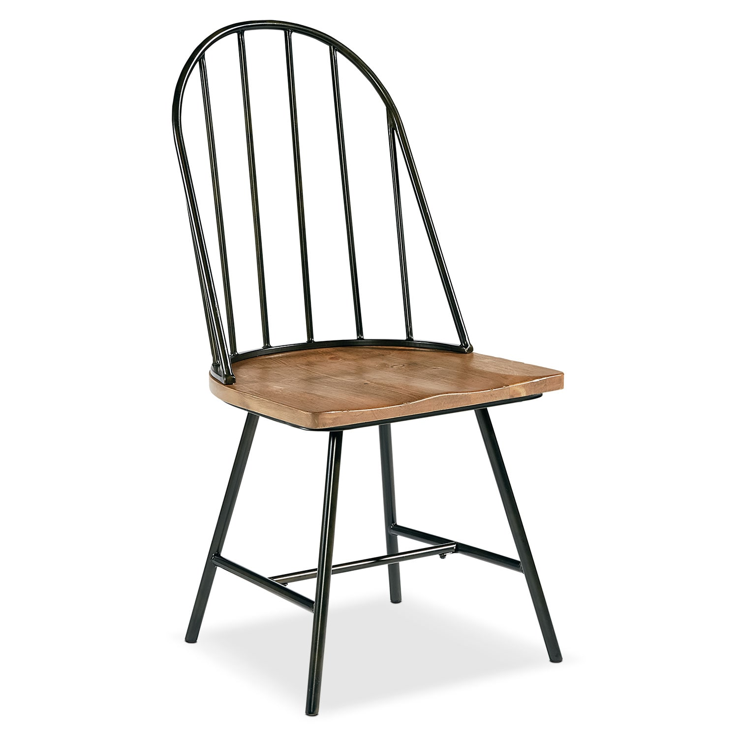 white metal and wood chairs office chair rug shop primitive furniture magnolia home value city