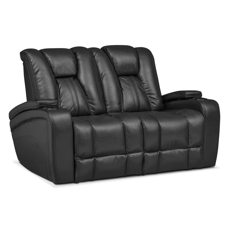 home theater chair repair computer target pulsar dual power reclining loveseat black value city