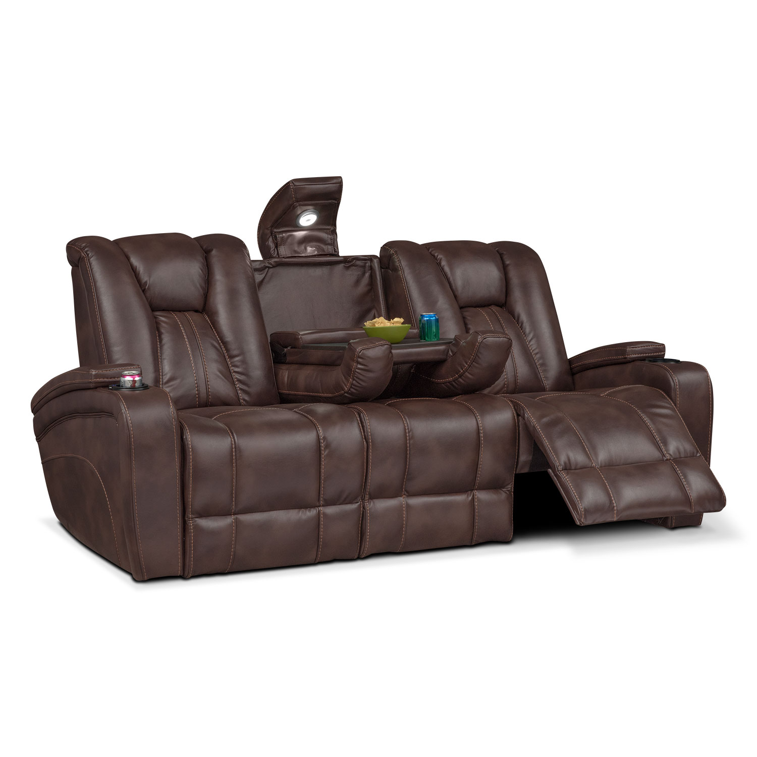 recliner sofa set 3 2 1 cost to reupholster a bed pulsar dual power reclining - brown | value city ...