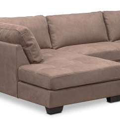 Where To Donate Sectional Sofa Danish Santana 4 Piece With Left Facing Chaise Taupe