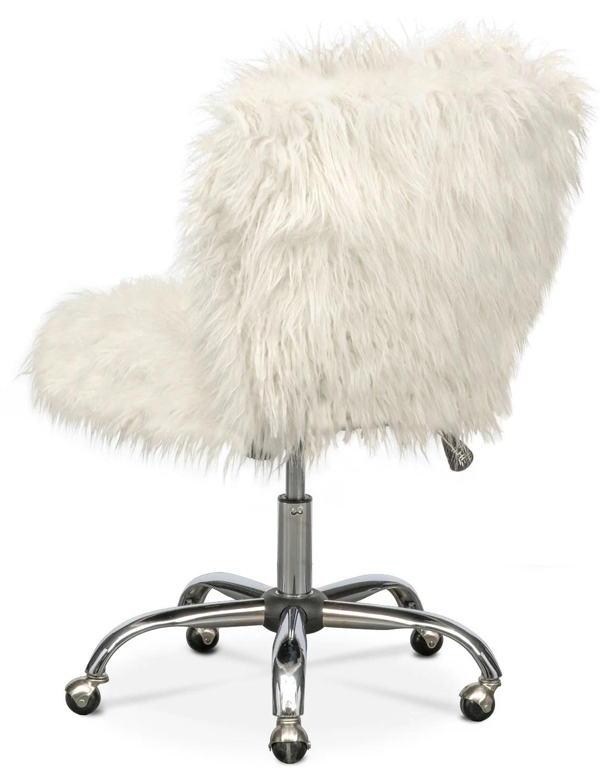 fluffy desk chair wedding cover hire lancashire faux fur home ideas