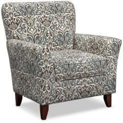 Accent Chairs Gray Pattern Loose Chair Covers Dublin Carla Value City Furniture And