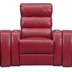 Red Recliner Chairs Graco Harmony High Chair Bravo 5 Piece Power Reclining Home Theater Sectional Value City