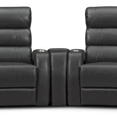 Recliner Bed Chair Wingback Chairs Sale Bravo 3 Piece Power Reclining Home Theater Sectional Value City Furniture And Mattresses
