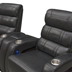 Home Theater Chair Repair Back Support Office Bravo 3 Piece Power Reclining Sectional