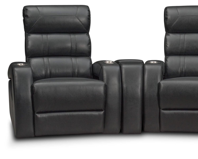 home theater chair repair swivel leg tips bravo 5 piece power reclining sectional