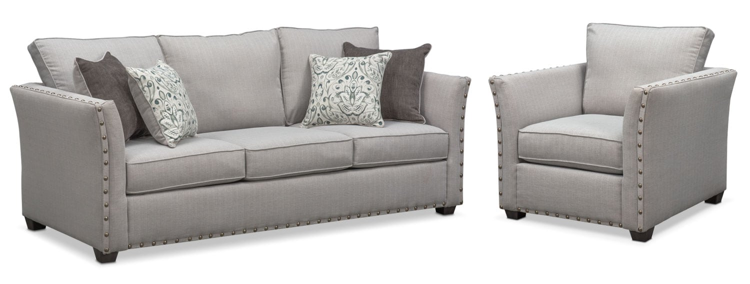 couch and chair set rail molding mckenna sofa value city furniture mattresses living room