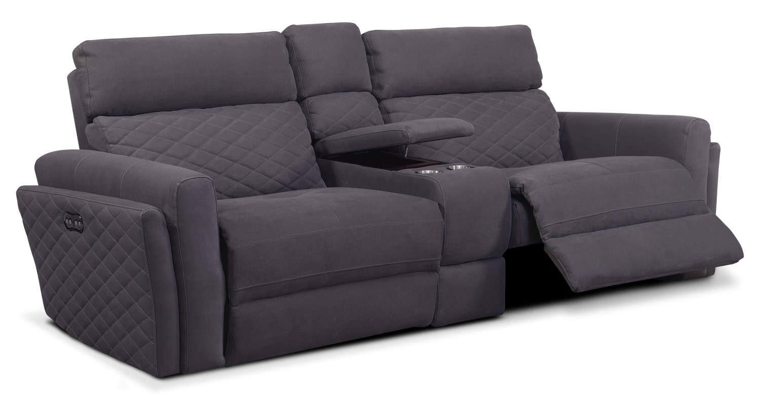 darrin leather sofa reviews vatar uk with console la z boy fortune full reclining