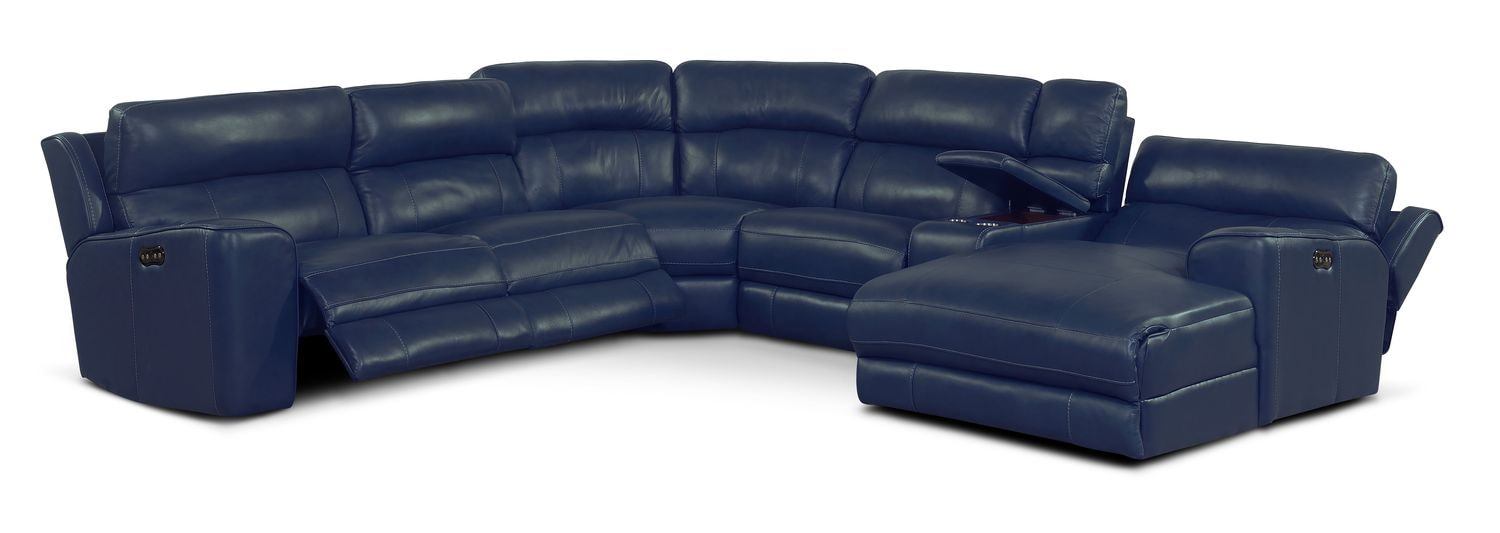 alessandro leather power motion sofa reviews biedermeier neu beziehen newport 6 piece reclining sectional with right facing chaise click to change image