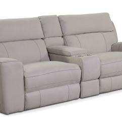Darrin Leather Sofa Reviews Black Sofas With Recliners Console La Z Boy Fortune Full Reclining