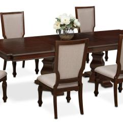 Accent Chairs For Dining Room Table Windsor And Vienna 6 Upholstered Side Merlot