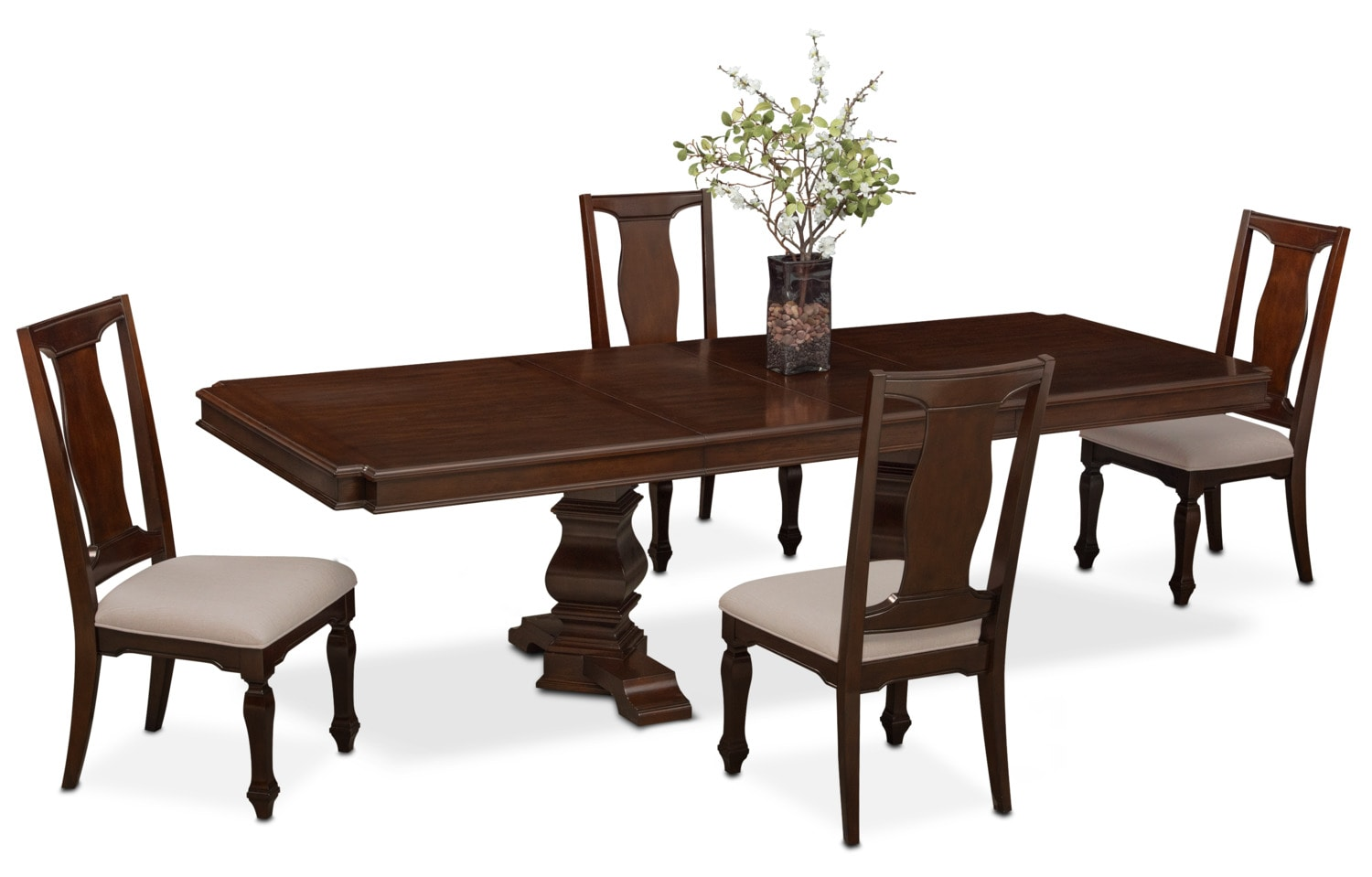 value city dining table and chairs swivel chair base repair vienna rectangular 4 side merlot