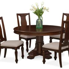 Value City Dining Table And Chairs Godrej Revolving Chair Specification Vienna Round 4 Side Merlot