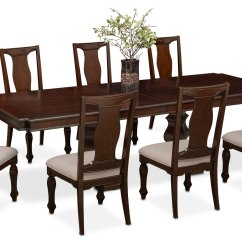 Value City Dining Table And Chairs Picnic Time Wholesale Vienna 6 Side 2 Upholstered