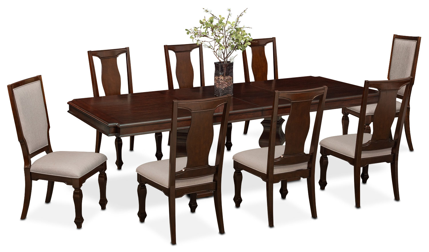 Dining Table And 6 Chairs Vienna Dining Table 6 Side Chairs And 2 Upholstered Side