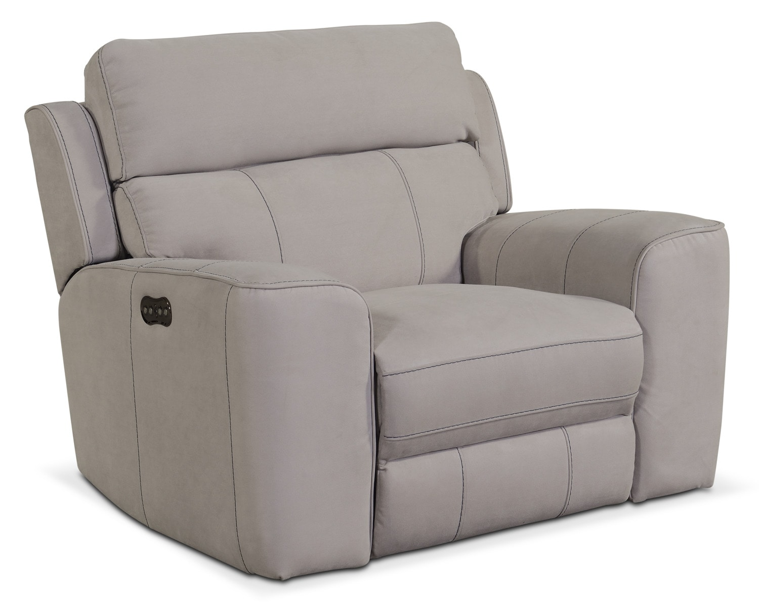 Gray Recliner Chair Newport Power Recliner Light Gray Value City Furniture