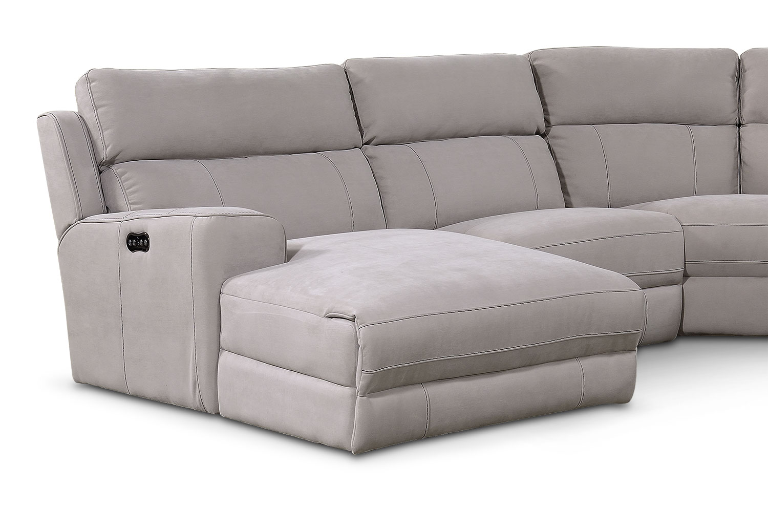 Newport 5Piece Power Reclining Sectional with LeftFacing