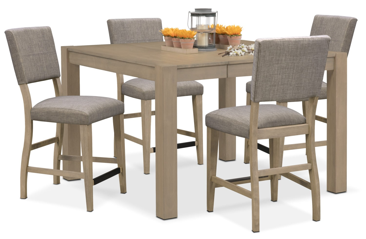 Counter Height Dining Room Chairs Tribeca Counter Height Table And 4 Upholstered Side Chairs