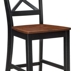 Counter Height Chairs With Back Outdoor For Front Porch Nantucket Side Chair Black And Cherry Value City Furniture Mattresses
