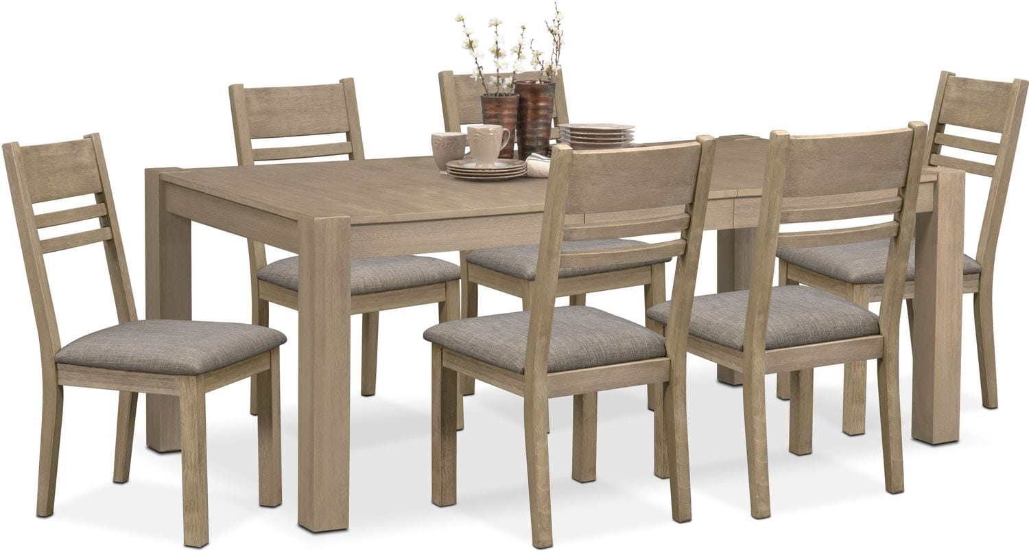 gray side chair reupholster seat foam tribeca table and 6 chairs value city furniture mattresses