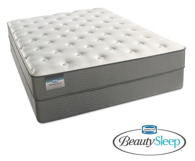 Shire Blue Luxury Firm Queen Mattress And Foundation Set