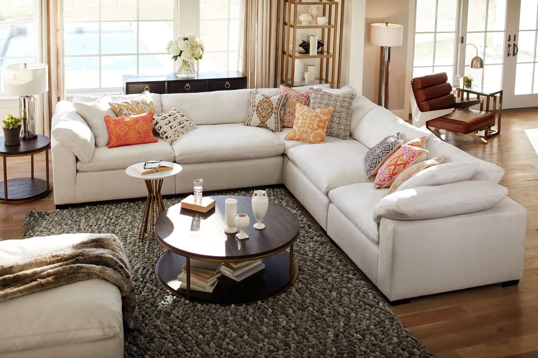 value city furniture living room sets setup ideas shop plush 5 piece sectional