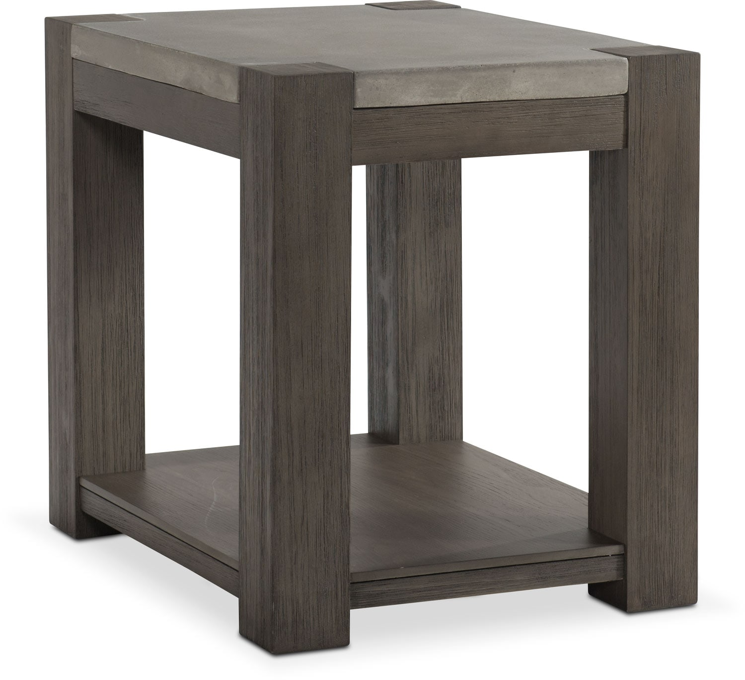 gray chair side table desk with footrest kellen chairside value city furniture and