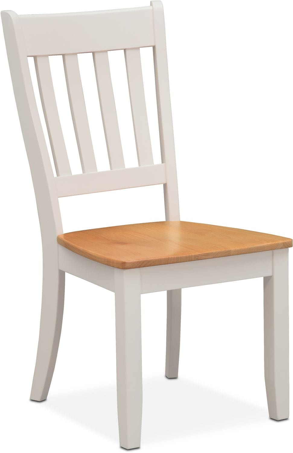 value city furniture accent chairs revolving chair in pakistan nantucket trestle table and 4 slat-back - maple white | ...