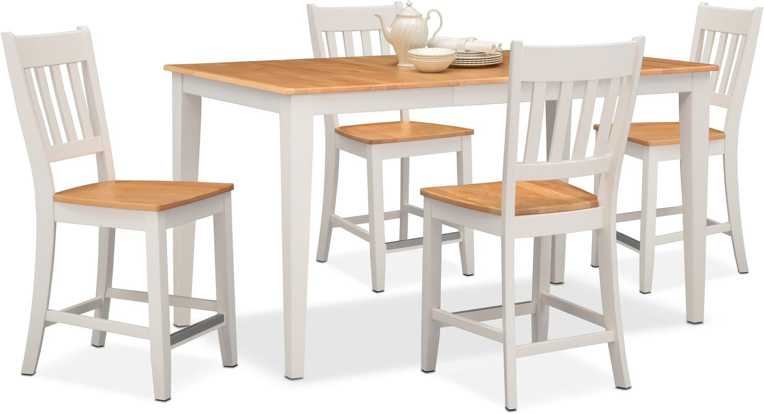 maple dining room chairs childrens pink desk and chair set nantucket counter height table 4 slat back