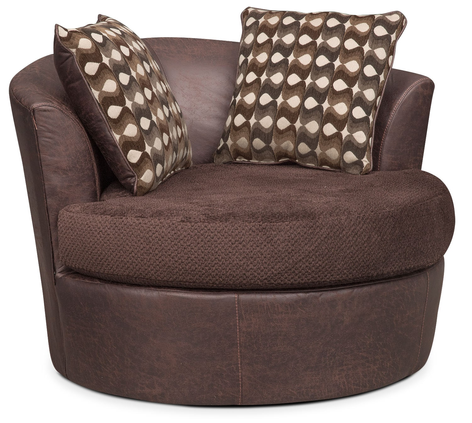 swivel chair value city student desk and brando sofa with chaise set chocolate