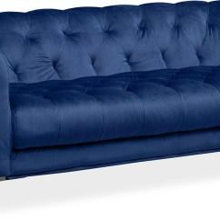 Cb2 Sectional Sofa Bed Vogue Microfiber Reversible Chaise Red Indigo Sofia 2 Seater Plush Velvet Made ...