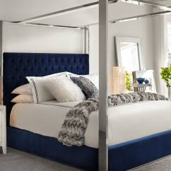 Value City Furniture Sofa Bed Protaras Map Presley King Canopy - Blue   And ...