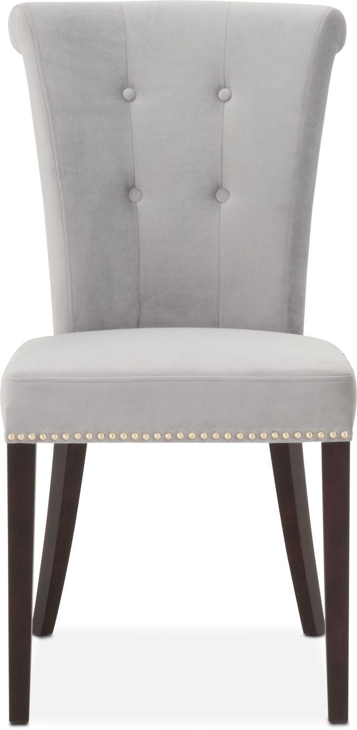 Calloway Side Chair GrayGold Value City Furniture And