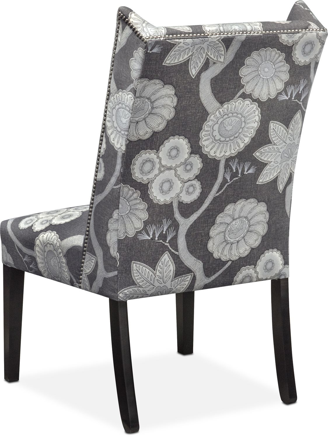 Floral Chairs Whitley Side Chair Floral Onyx Value City Furniture