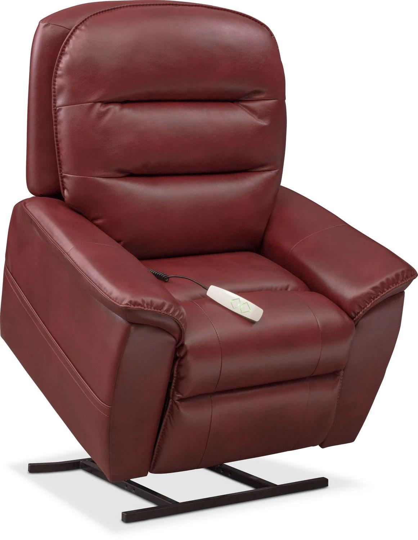power lift chair repair covers santa regis recliner red value city furniture and