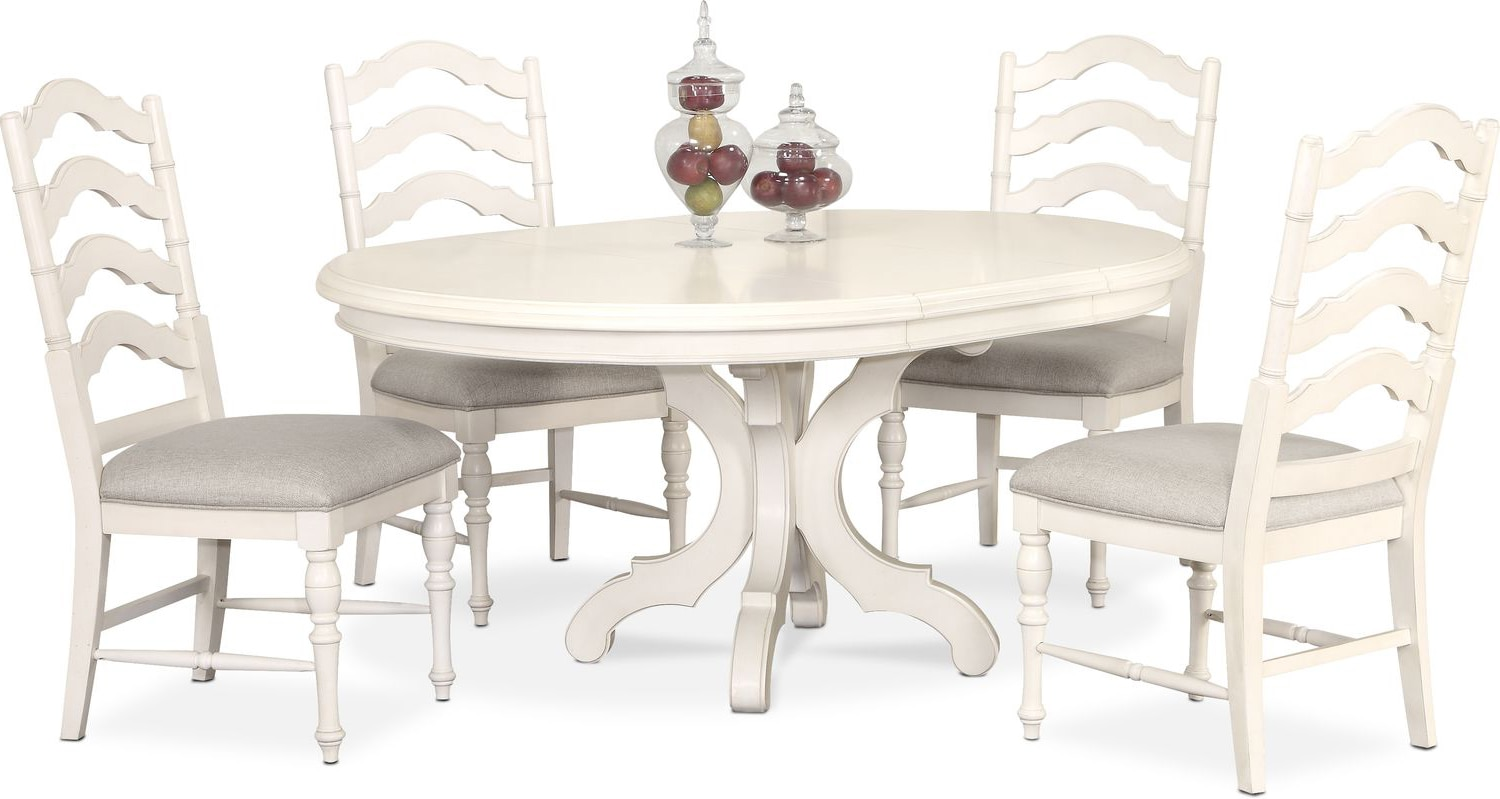 Round Dining Table And Chairs Charleston Round Dining Table And 4 Side Chairs White