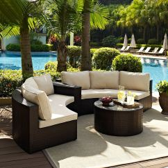 3 Piece Outdoor Table And Chairs Leather Swivel Biltmore Sectional Cocktail Set