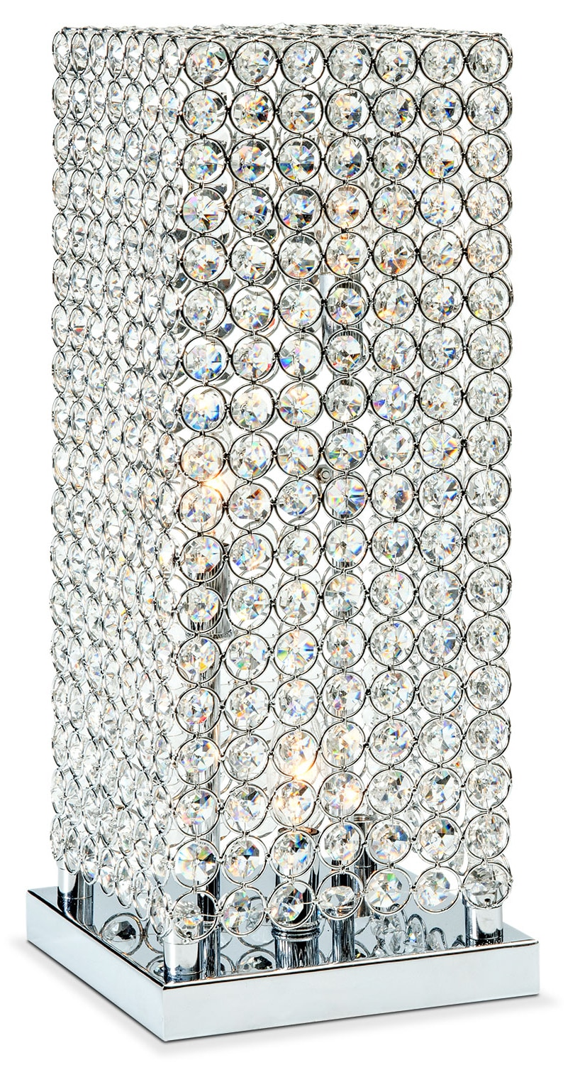 Crystal Tower Table Lamp  Value City Furniture and Mattresses