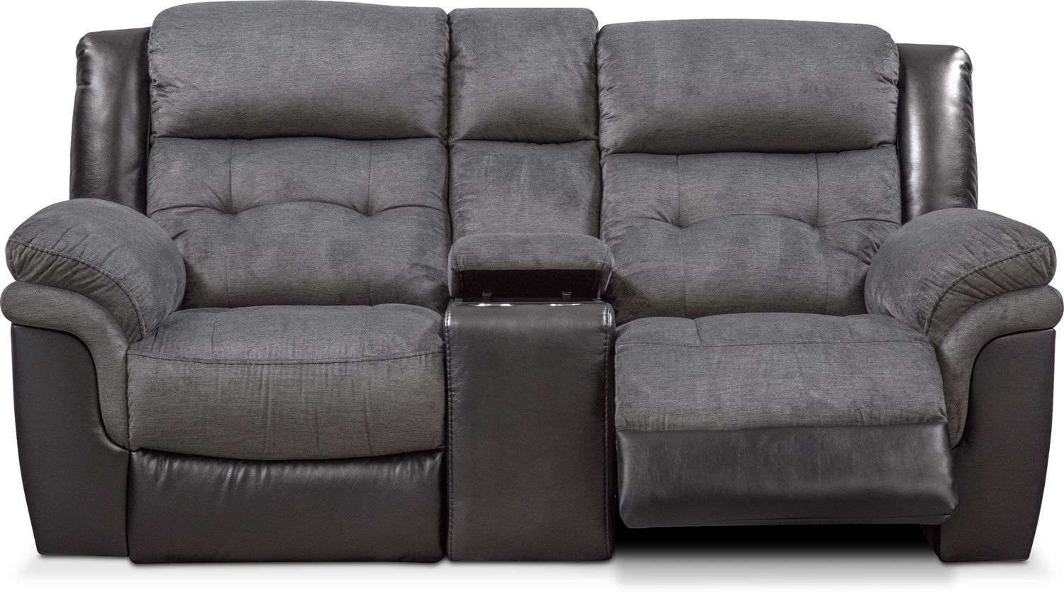 black reclining sofa with console es grave o aguda tacoma manual loveseat value city furniture click to change image