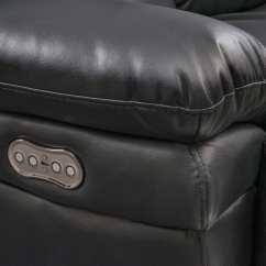 Pick Up Sofa Today Flexsteel Conversation Sofas Monza Dual Power Reclining - Black | Value City ...