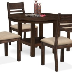 Value City Dining Table And Chairs Quinceanera Chair Rental Tribeca Round 4 Side Tobacco