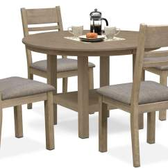 Value City Dining Table And Chairs Chair Massage Whole Foods Tribeca Round 4 Side Gray