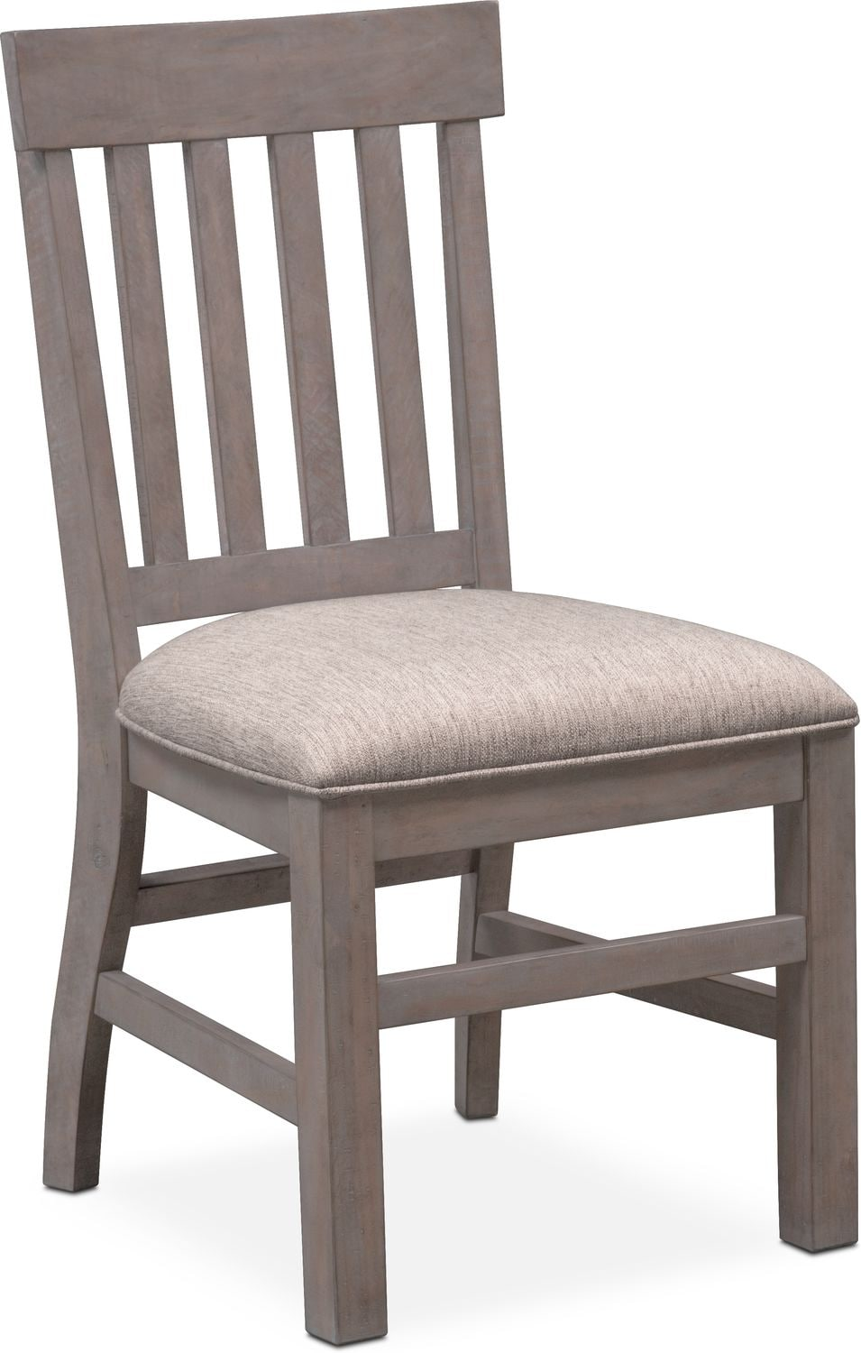 gray dining chair adirondack chairs room seating value city tap to change charthouse side