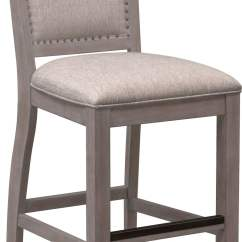 Upholstered Counter Height Chairs Kids Spa Chair Charthouse Stool Gray Value City Dining Room Furniture