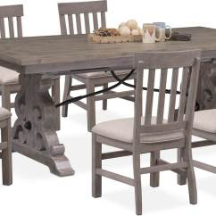 Gray Side Chair Best Chairs Swivel Glider Recliner Charthouse Rectangular Dining Table And 6 Value