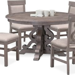 Accent Chairs For Dining Room Table Office Depot Executive Chair Charthouse Round And 4 Upholstered Side