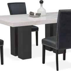 Black Side Chair Baby High Chairs At Target Artemis Dining Table And 4 Upholstered Value Room Furniture