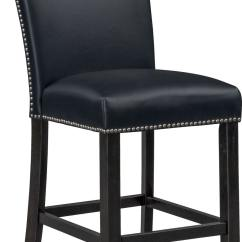 Upholstered Counter Height Chairs Pottery Barn Rattan Chair Artemis Stool Black Value City Furniture And Mattresses