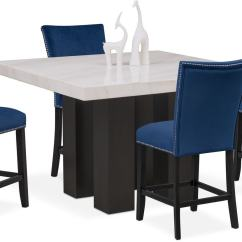 Value City Dining Table And Chairs Room With Leather Seats Shop 5 Piece Sets Tap To Change Artemis Counter Height 4 Upholstered Stools Blue